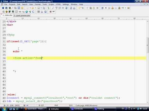 PHP Tutorials - Making a simple Guest Book part 2