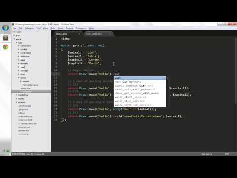 Laravel Tutorials: Views #2 Passing Data To Views