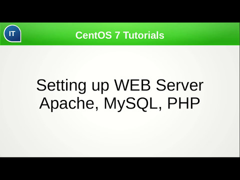 Setting up WEB Server Apache + PHP + MySQL. CentOS 7 Tutorials