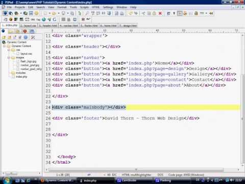 PHP Tutorials - Dynamic HTML Web pages using PHP part 2