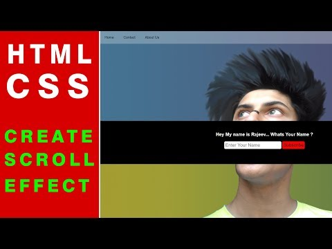 Create Scrolling Effect Using CSS and HTML | Web Tutorials