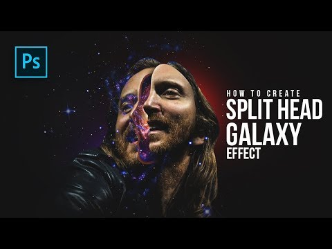 How to Create Split Head Galaxy Manipulation in Photoshop - #Photoshop Tutorials
