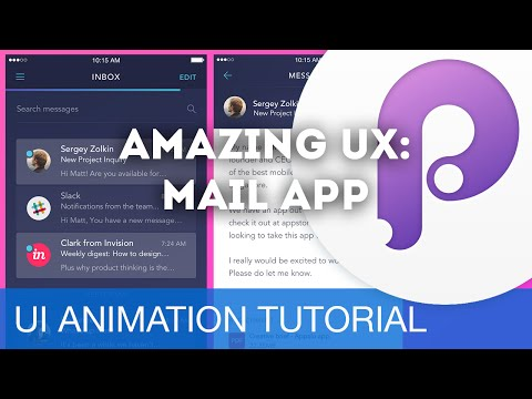 Amazing UX: Mail App • UI/UX Animations with Principle & Sketch (Tutorial)