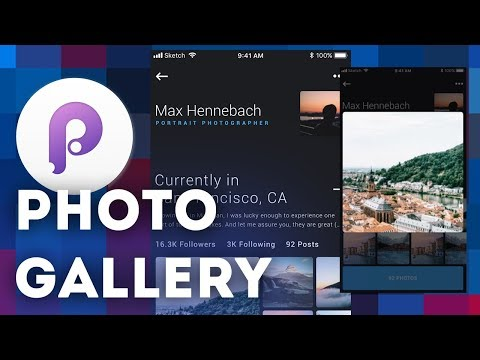 Advanced Photo Gallery • UI/UX Animations with Principle & Sketch (Tutorial)