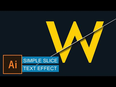 Create simple slice text effect | illustrator tutorial | sliced effect | ai tutorial