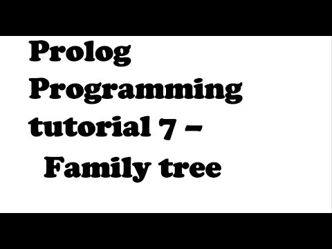 AI Prolog Programming Tutorial 7 - Family Tree