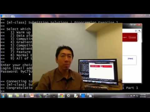 Lecture 5.7 —  Octave Tutorial || Programming Exercises — [ Machine Learning | Andrew Ng]