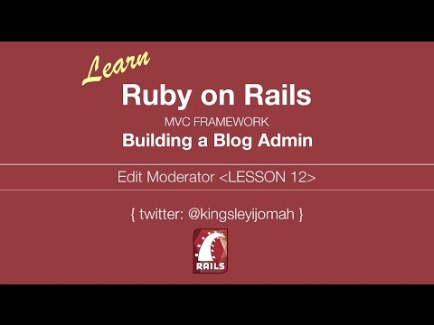 Learn Ruby on Rails Tutorials for Beginners (Building Admin System) - Lesson 12