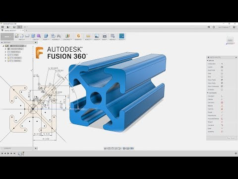 How I Would Sketch 80/20 Rails — Fusion 360 Tutorial — #LarsLive 152