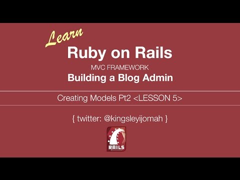 Learn Ruby on Rails Tutorials for Beginners (Building Admin System) - Lesson 5