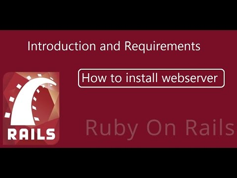 How to install Webserver | Ruby on Rails Tutorials for Beginners