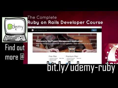 Best Ruby on Rails Course in Udemy - The Complete Ruby on Rails Developer Course