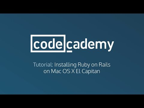 Install Ruby on Rails on Mac OS X