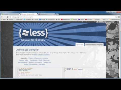 Less CSS Tutorial for Beginners - 1 - Getting Started and Installing