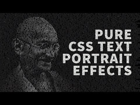 Pure CSS Text Portrait Effects | Html CSS Tutorial