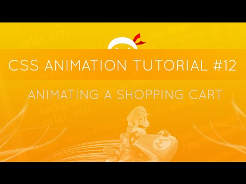 CSS Animation Tutorial #12 - Animating a Shopping Cart