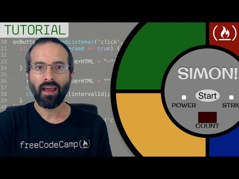 Simon Game JavaScript Tutorial for Beginners