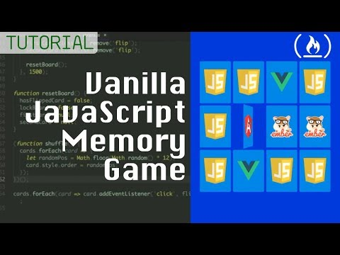 Memory Card Game - JavaScript Tutorial