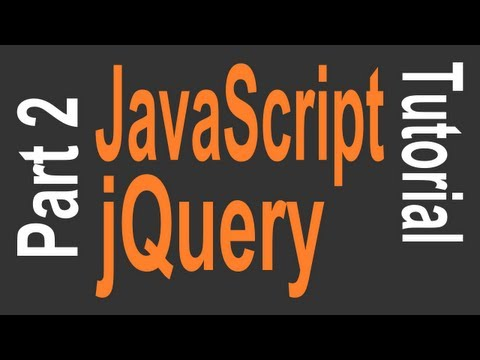 JavaScript & jQuery Tutorial for Beginners - 2 of 9 - jQuery Selectors