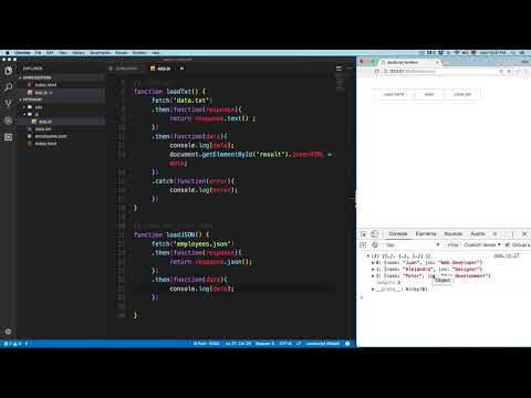 JavaScript Course: Display JSON Data with Fetch API