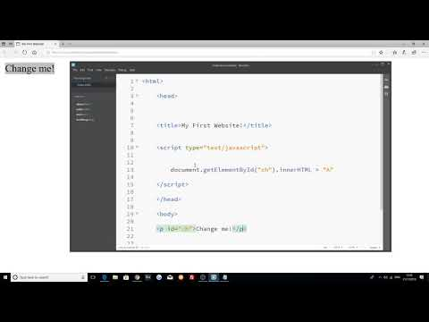 The Ultimate Website Development Course: Changing Text With Javascript | Part 29 |