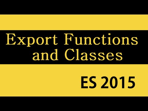 ES6 and Typescript Tutorial - 28 - Exporting Functions and Classes