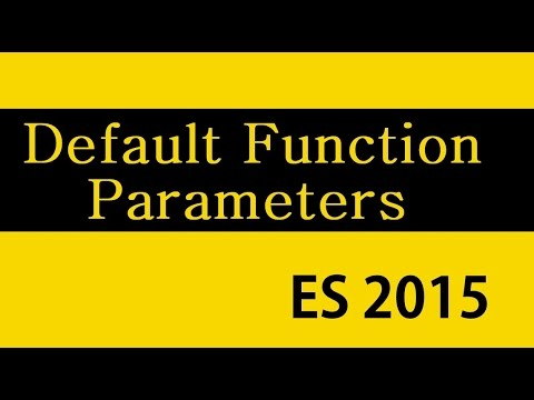 ES6 and Typescript Tutorial - 12-  Default Function Parameters