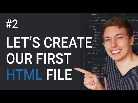 2: Let's Create Our First HTML Project and Document | Learn HTML and CSS | HTML Tutorial