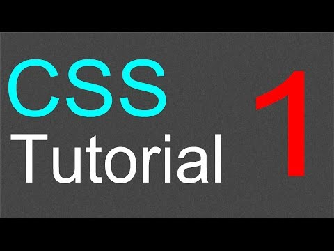 CSS Tutorial for Beginners - 01 - Introduction to CSS