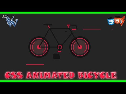 CSS Tutorial | Animated Bicycle | Css Effects Animation | Cool css effects