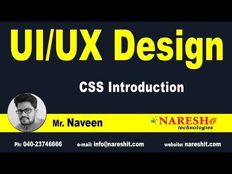 Session:1 | Introduction to CSS | CSS Tutorial | by Mr.Naveen Saggam