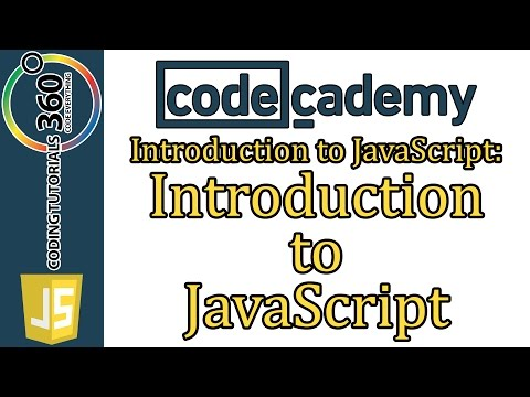 Introduction to JavaScript: CodeCademy Introduction to JavaScript Course Learn JavaScript
