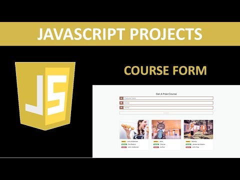 Javascript Projects - Course Form Project