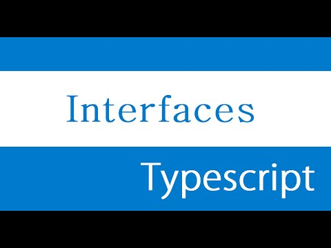 ES6 and Typescript Tutorial - 48 - Interfaces