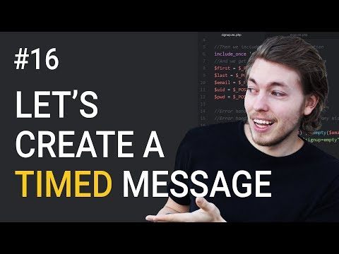 16: Exercise Using PHP | Scheduled Message Programming | PHP Tutorial | Learn PHP Programming
