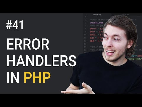 41: What Are Error Handlers in PHP | PHP Tutorial | Learn PHP Programming