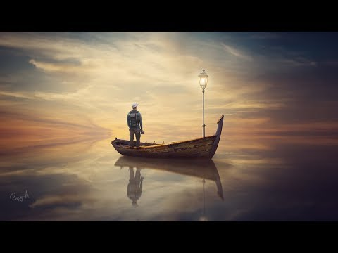 Sunset Reflection - Photoshop Manipulation Tutorial Compositing