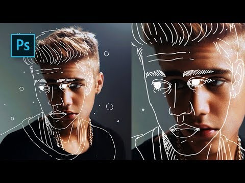 How to Create Outline Portrait Effect in Photoshop - #Photoshop Tutorials