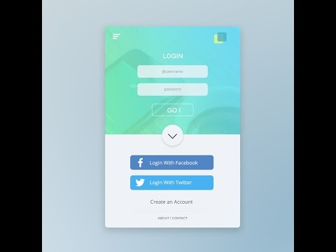 UI Design tutorial in Photoshop : Mobile app login Page Step By Step by Code and Design