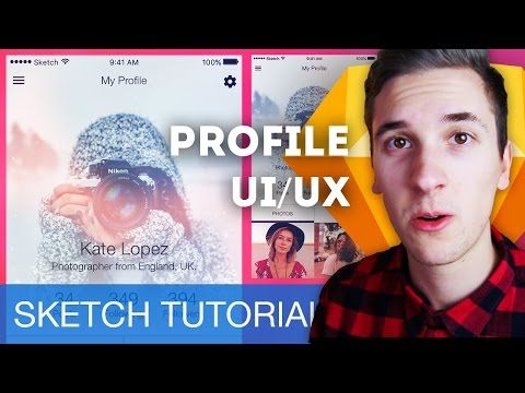 First Sketch Tutorial 2017! Profile UI/UX • Sketchapp Tutorial / Sketch 4 Tutorial