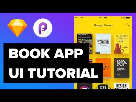 Book App Design - UI/UX Design and Animations Tutorial with Sketch & Principle