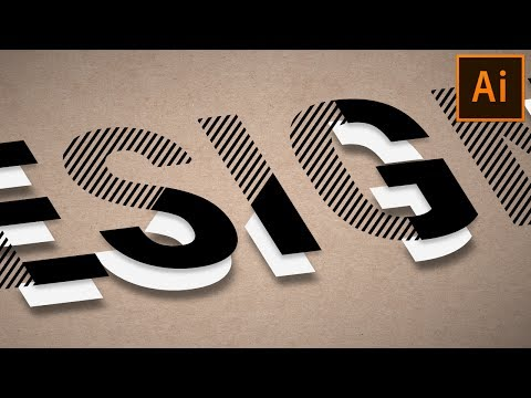 Type Design | Illustrator Text Effect Tutorial