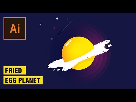 Fried egg planet illustrator tutorial | ai tutorial