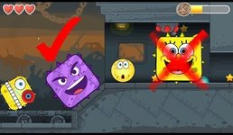 SPONGEBOB BALL IN RED BALL 4 BOX FACTORY FIGHTS VOLUME 3 WITH EMOJI BOSS
